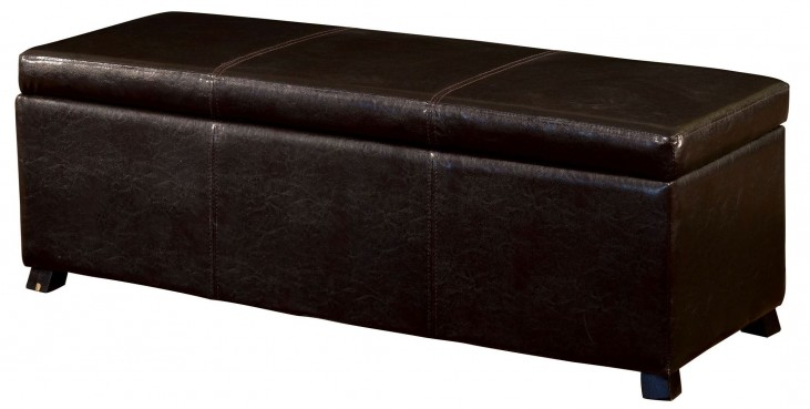 Fallon Brown Storage Ottoman