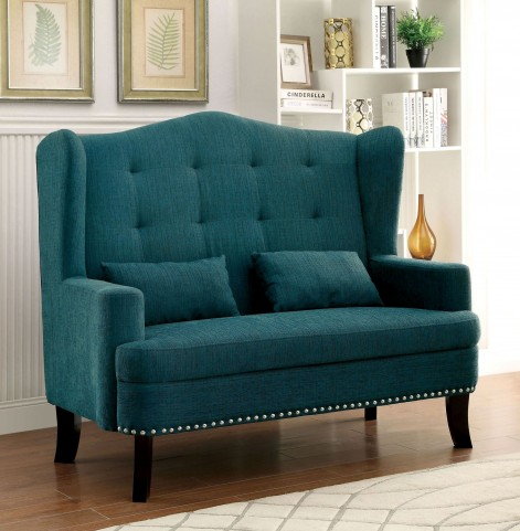 Setubal Teal Loveseat