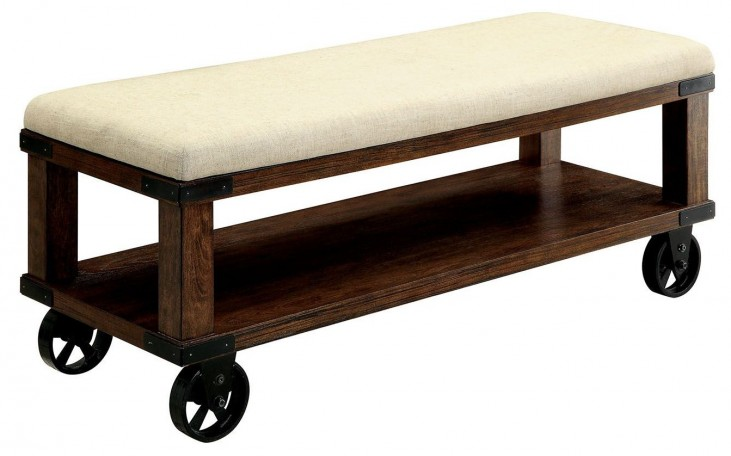 Broadus IV Light Oak Bench