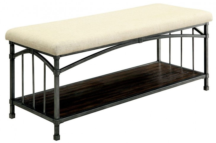 Itzel Dark Oak Bench