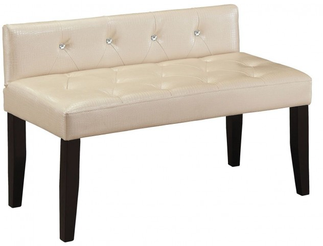 Alipaz Pearl White Small Bench