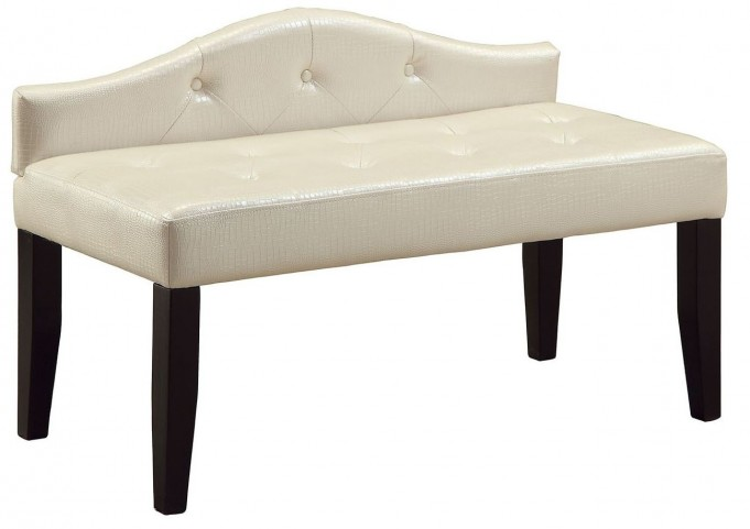 Calpas III Pearl White Small Bench