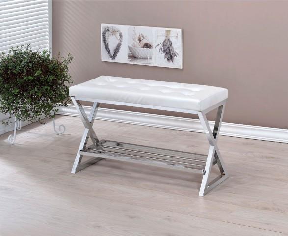 Mila White Bench