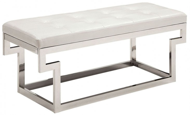 Enya White Small Bench