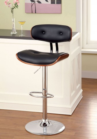 Boa Black Leatherette Bar Stool