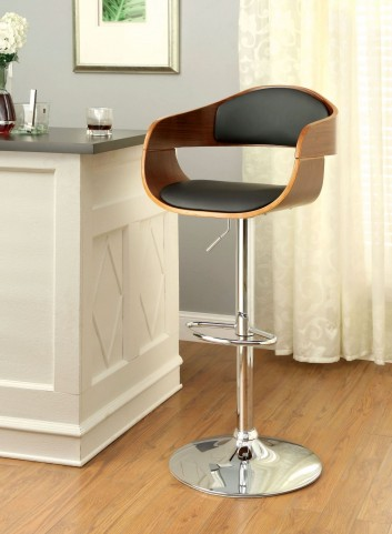 Boxil Dark Oak Leatherette Bar Stool