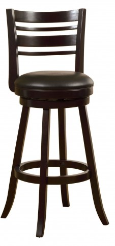 "Luverne Espresso 29"" Swivel Bar Stool"