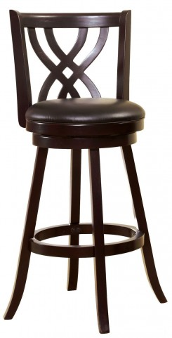 "Wendel 29"" Espresso Swivel Bar Stool"