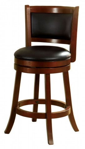 "Letcher 24"" Dark Cherry Swivel Bar Stool"