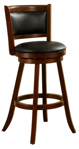 "Letcher 29"" Dark Cherry Swivel Bar Stool"