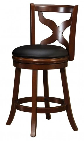 "Baltic 24"" Dark Cherry Swivel Bar Stool"