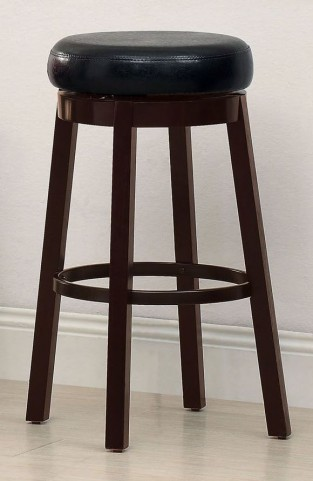 Agio Black Leatherette Bar Stool Set of 2