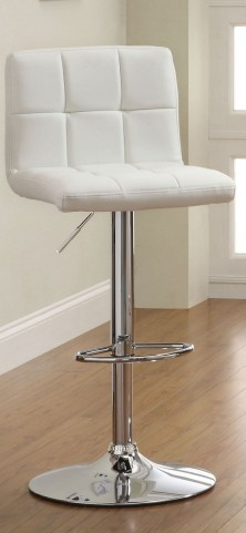 Komoe White Leatherette Bar Stool