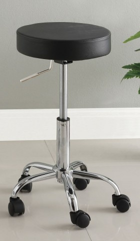 Ascon Black Leatherette Bar Stool