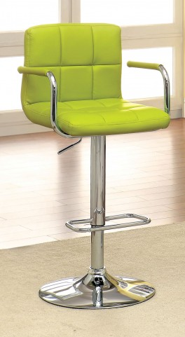 Corfu Lime Leatherette Bar Stool