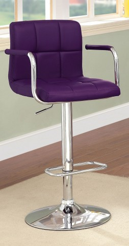 Corfu Purple Leatherette Bar Stool