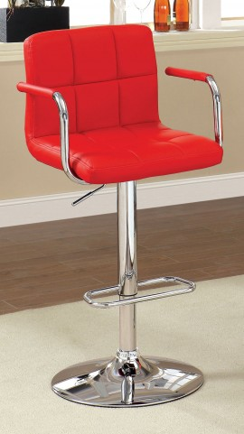 Corfu Red Leatherette Bar Stool