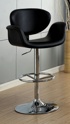 Alimos Black Leatherette Bar Stool