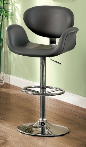 Alimos Gray Leatherette Bar Stool