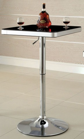 Veria Black Top Adjustable Bar Table