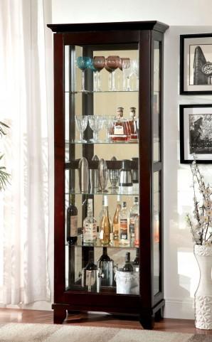 Ludden Dark Walnut Curio Cabinet