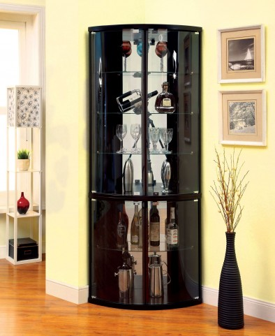Mylo Espresso Curio Cabinet