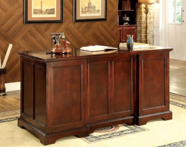 Desmont Cherry Corner Office Desk