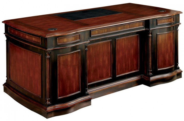 Strandburg Cherry and Black Writing Desk