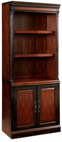 Strandburg Cherry and Black Bookcase