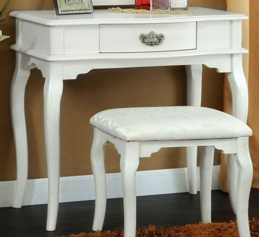 Madera White Vanity Table