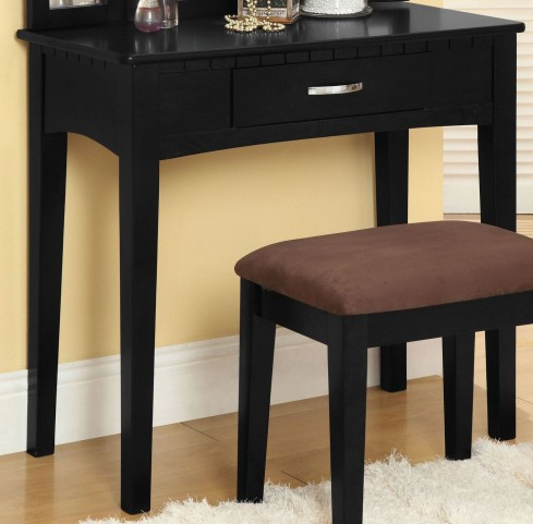 Potterville Black Vanity Table