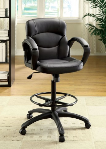 Belleville Black Leatherette Adjustable Height Office Chair