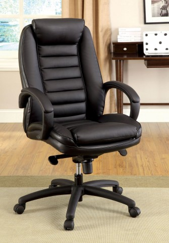 Andover Black Leatherette Adjustable Height Office Chair