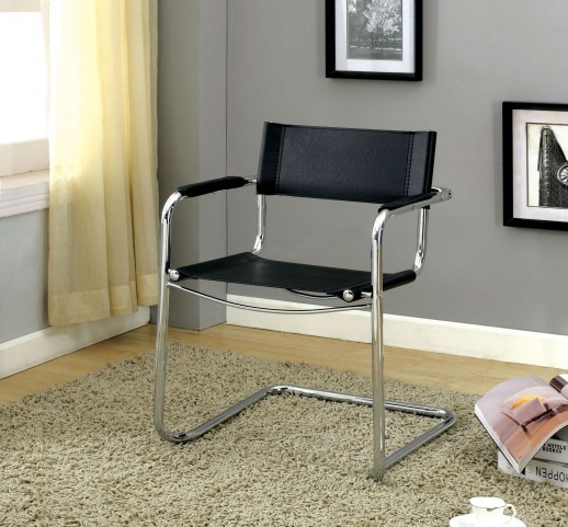 Kramer Black PVC Meeting Chair