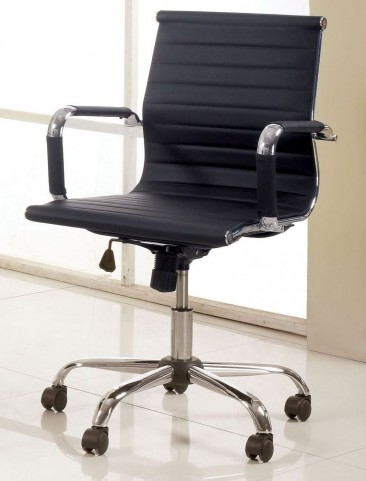 Barcelos Black PU Small Office Chair
