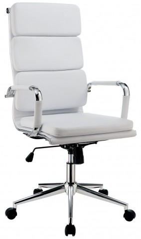 Mercedes White Large Office Chair