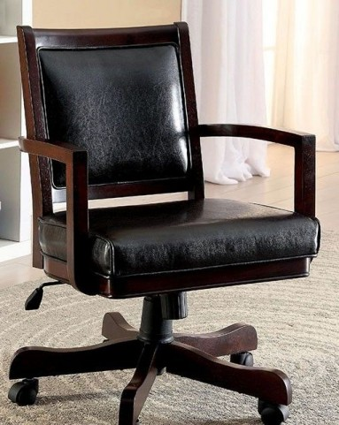 Raelle Dark Cherry Height Adjustable Arm Chair