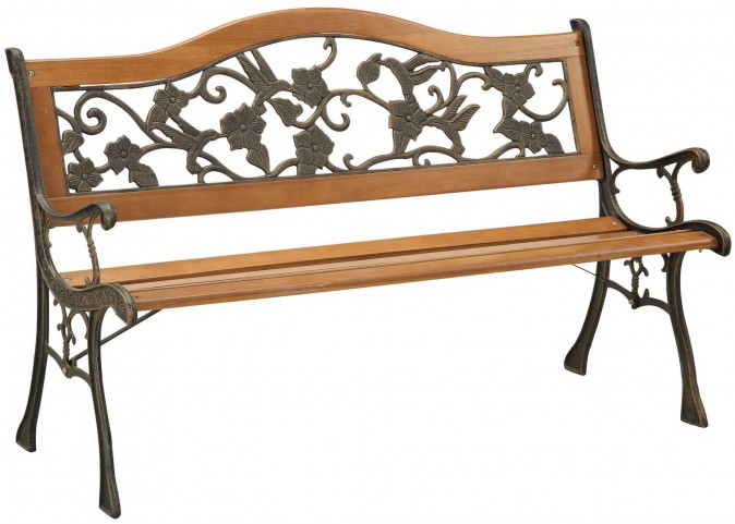 Alba Antique Antique Oak Park Bench