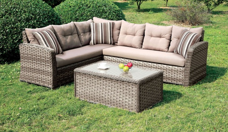 Moura Tan Patio Sectional