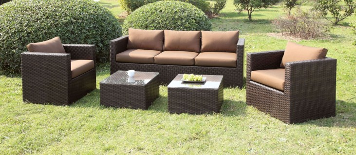 Olina Brown 5 Piece Patio Set