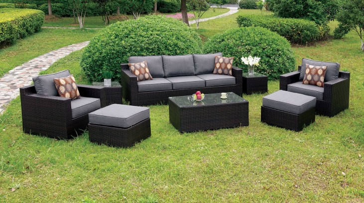 Helina Gray 8 Piece Patio Sofa Set