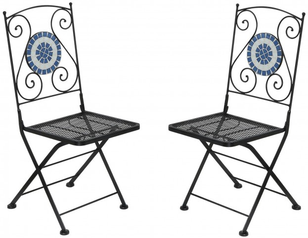 Aster Folding Metal Chair Set of 2