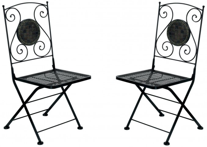 Betim Folding Metal Chair Set of 2