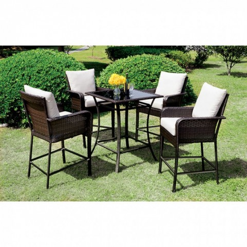 Tanishka Espresso Counter Height Dining Room Set