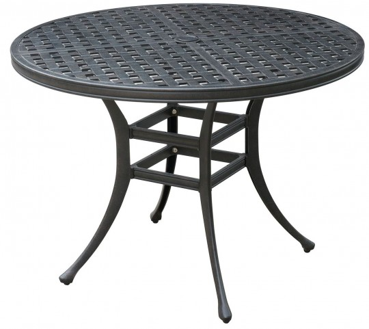 Chiara II Dark Gray Round Patio Dining Table