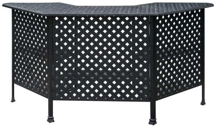 Christa Powder Coated Bronze Patio Bar Table