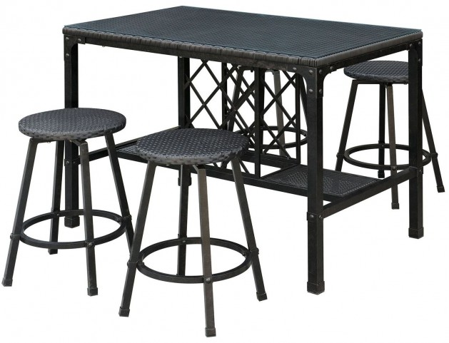 Cheri Bronze 5 Piece Patio Counter Height Dining Set