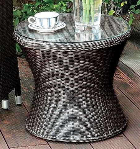 Almada Espresso Round Side Table