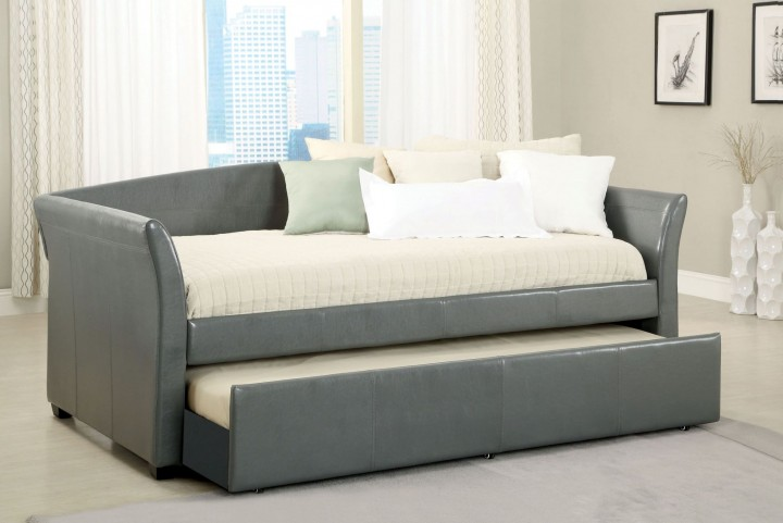 Delmar Gray Trundle Daybed