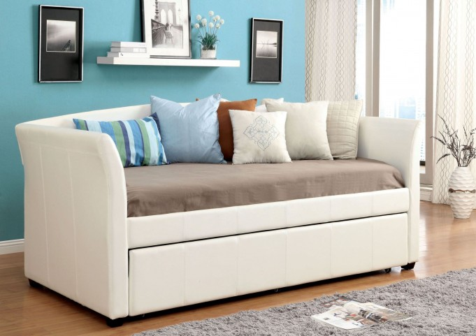 Delmar White Twin Trundle Daybed